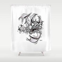 Bat (Failing at Life) Shower Curtain