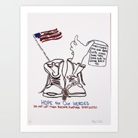 Remember the Veterans Art Print