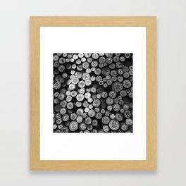 Black and White Lumber Framed Art Print