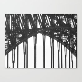 06 Black & White Sydney Harbour Bridge Canvas Print