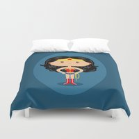 wonder Duvet Covers featuring Wonder by Sombras Blancas Art & Design