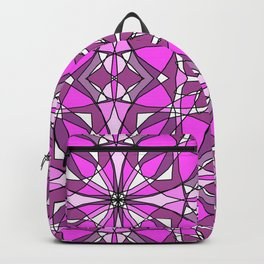 Pink Stained Glass Backpack