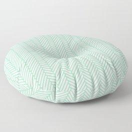 Herringbone Mint Floor Pillow