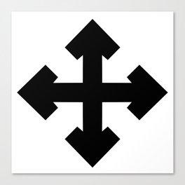 Pointed Krückenkreuz Crutch Cross Martial Heathen symbols Canvas Print
