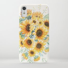 Loose Watercolor Sunflowers iPhone Case