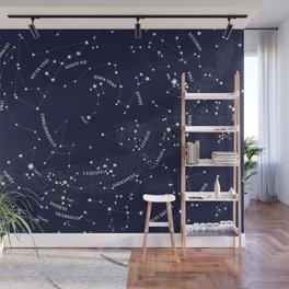 Constellation Map - Indigo Wall Mural