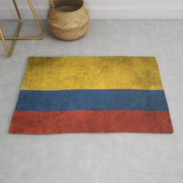 Old and Worn Distressed Vintage Flag of Colombia Rug