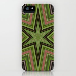 Green Star iPhone Case