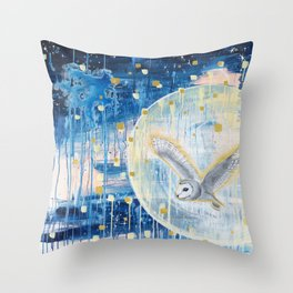 The First Full Moon Throw Pillow