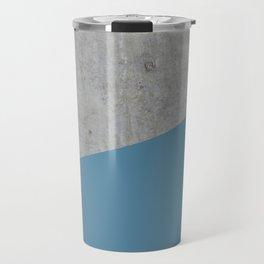 Concrete and Niagara Color Travel Mug