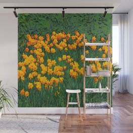 GREEN GARDEN OF YELLOW SPRING DAFFODILS Wall Mural