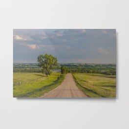Country Road, North Dakota 3 Metal Print