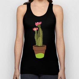 Green Pot Cactus Unisex Tank Top