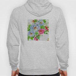 Sweet Floral Elegance Print Hoody