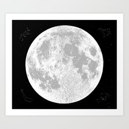 Large Natural Moon Print, by Christy Nyboer Art Print