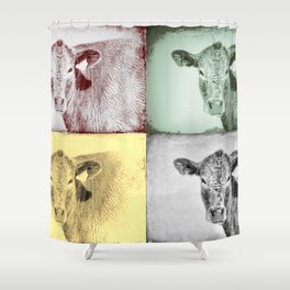 Here's Looking at Moo Shower Curtain