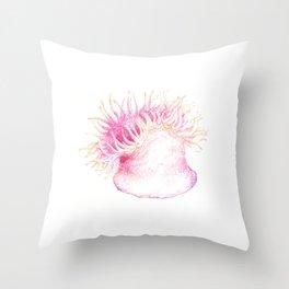 sea anemone - color Throw Pillow