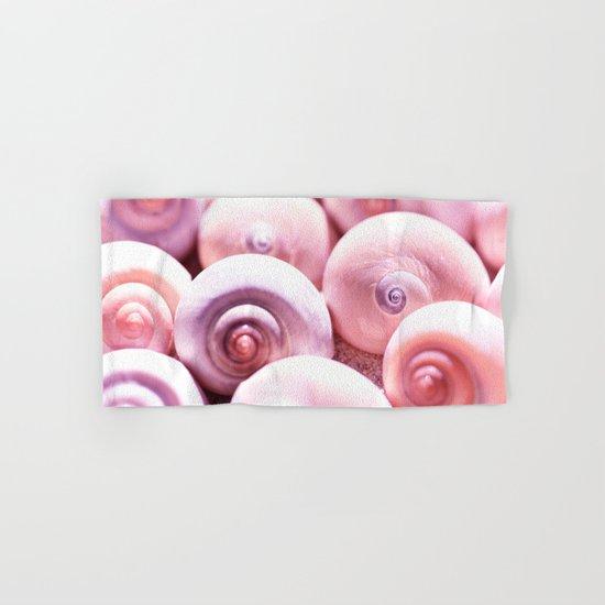Dream of last summer I - Snail Shells in pink Hand & Bath Towel
