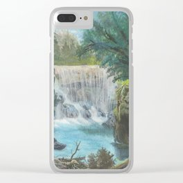Bright Lagoon. Clear iPhone Case