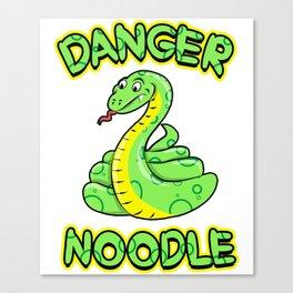 Danger Noodle for Snake Lovers Canvas Print