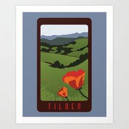 Tilden Travel Poster Art Print