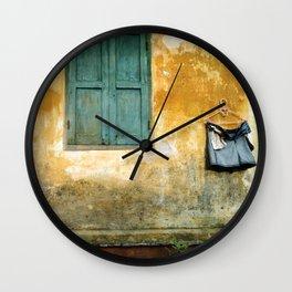 Asian Laundry Day of Hoi An - Vietnam Wall Clock
