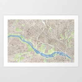 Richmond Virginia City Map Art Print