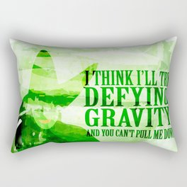 defying gravity Rectangular Pillow