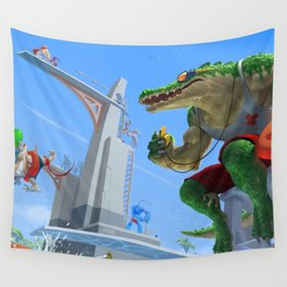 Pool Party Renekton League Of Legends Wall Tapestry