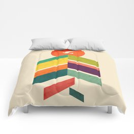 Lingering Mountains Comforters