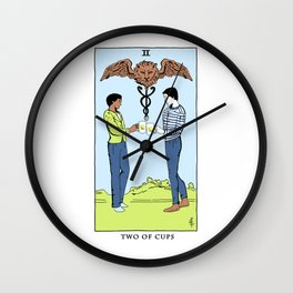 Community Tarot Card- Two of Cups Wall Clock
