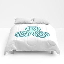 St. Patrick's Day Celtic Blue Triskelion #2 Comforters