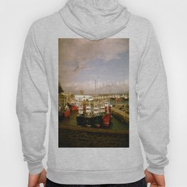 Boats Bobbing in the Blue of the Bay Hoody