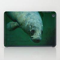 manatee iPad Cases featuring Manatee by Mariana Lisina