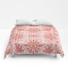 It's a Jungle- Coral Comforters