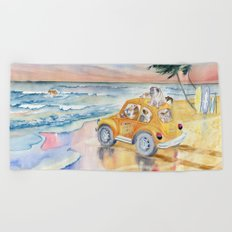 Dogs On Vacation Beach Towel