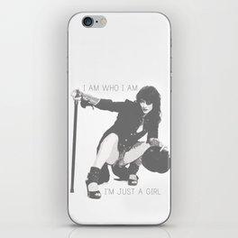 I am who I am - I'm just a girl iPhone Skin