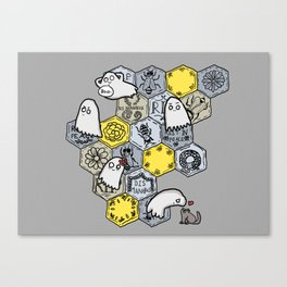 Ghost bees Canvas Print