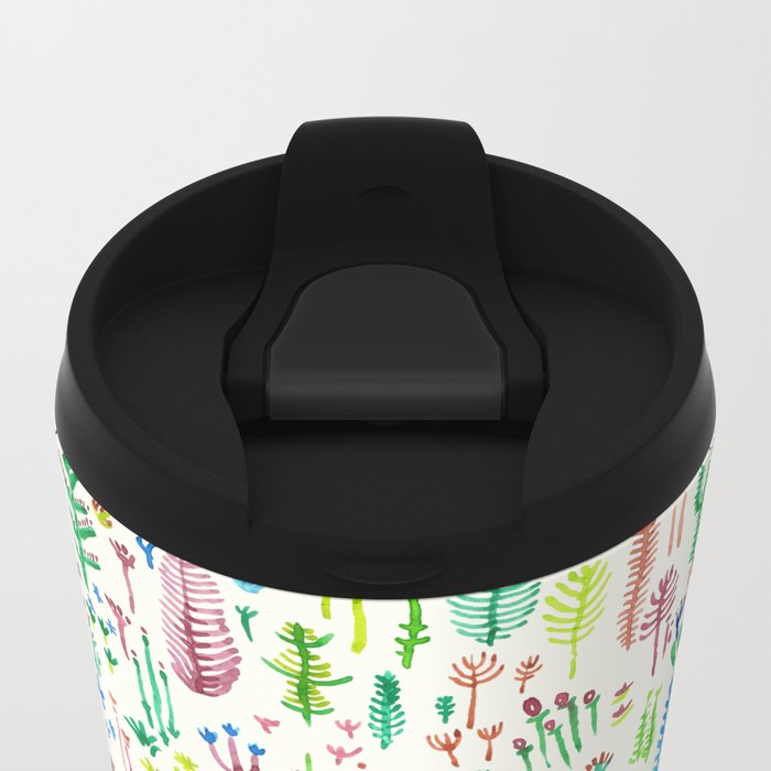tROPICAL COLORS PLANTS Metal Travel Mug