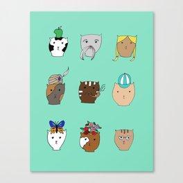 Temperamental Cats Canvas Print
