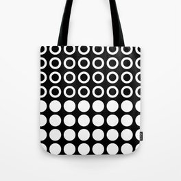 Mid Century Modern Circles And Dots Black & White Tote Bag