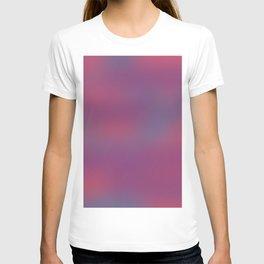 Deep Berry Purple Abstract Sunset T-shirt