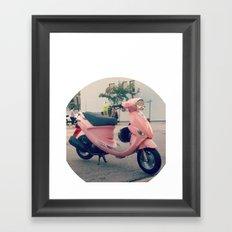Pink Scooter Framed Art Print