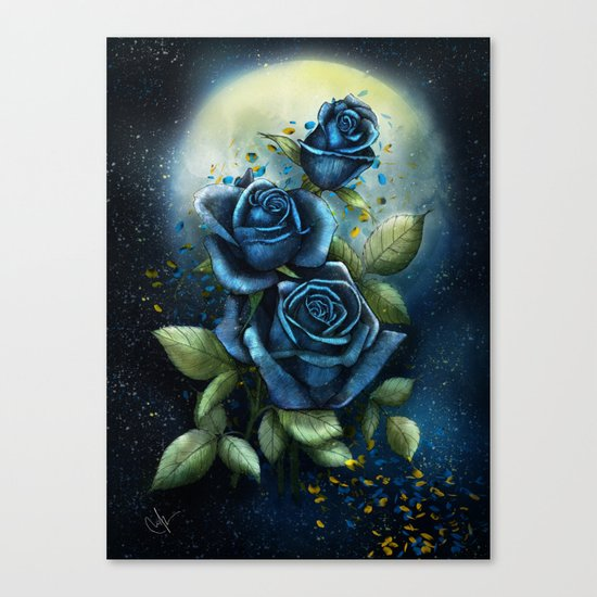 Night Roses Canvas Print