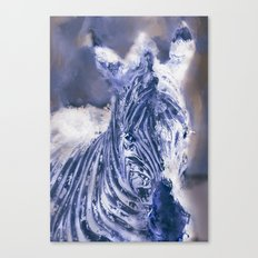 Zebra Oil Canvas Print