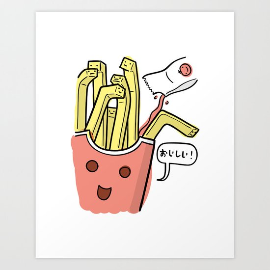 Friends Go Better Together 1/7 - French Fries and Ketchup Art Print