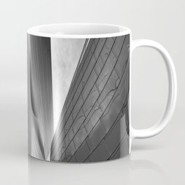 Architectural abstract captured in black and white from low perspective rendering a dramatic view. Coffee Mug