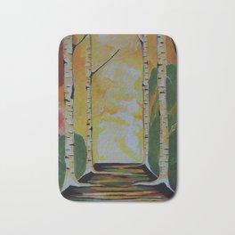 Meet Me By The Birches Bath Mat