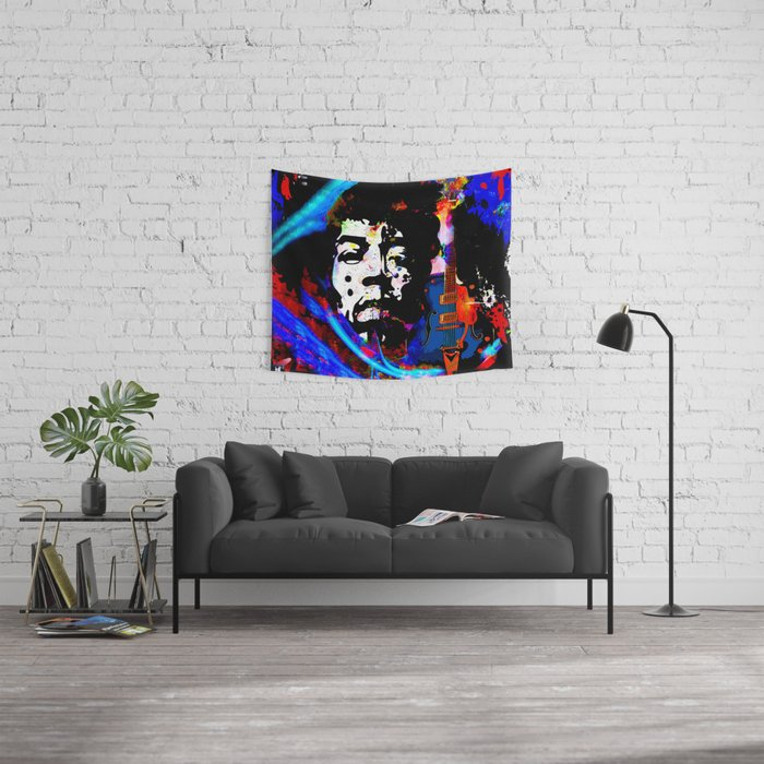 GUITAR MAN:  MUSIC DOESN'T LIE Wall Tapestry