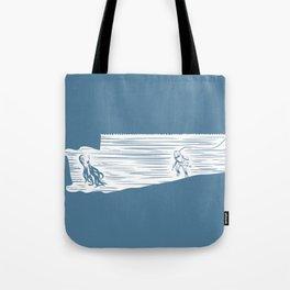 Deep Seasaw Diver Tote Bag